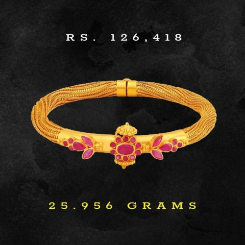 Tanishq-Ruby-Gold-Bangle-in-25-Grams