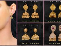 Gold Jhumka Earrings Designs With Price and Weight