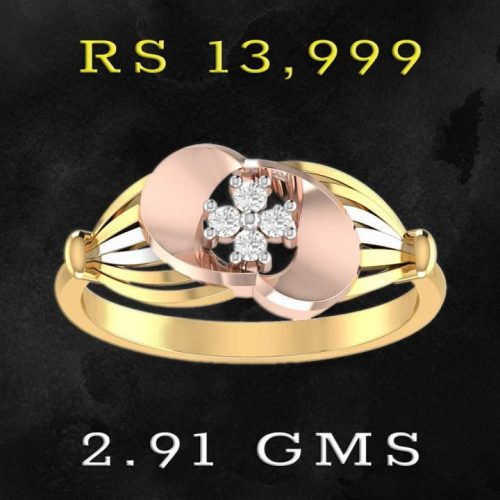 2 Colour 22 Karat Yellow Gold Ring from PC Jewellers