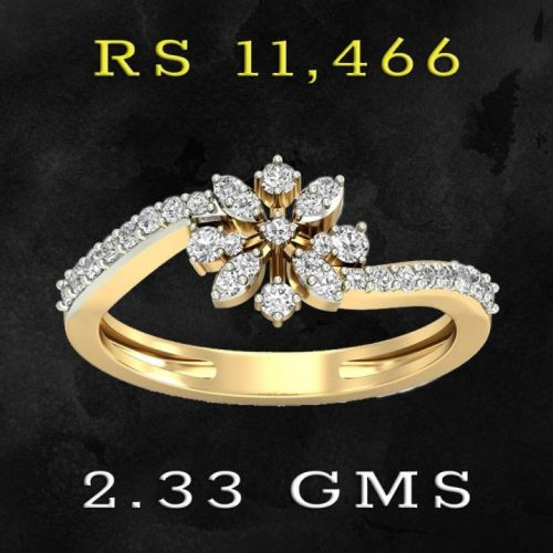 22K Gold Diamond Ring with Price