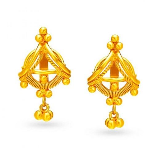 22KT Gold Stud Earrings from Tanishq