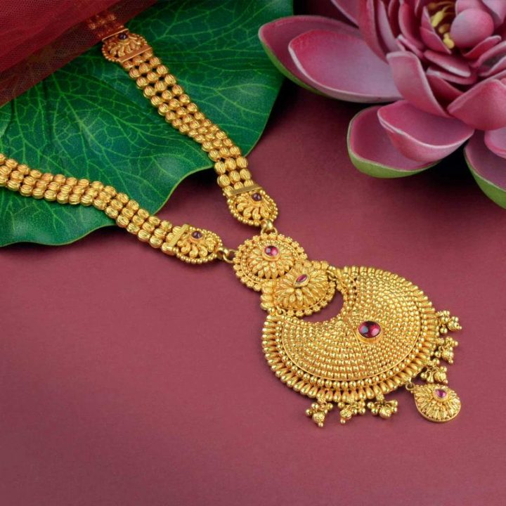 60 Grams Gold Haram Chain Necklace Design