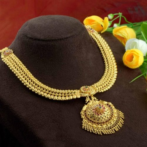 Beautiful Gold Necklace Design in 75 Grams Weight