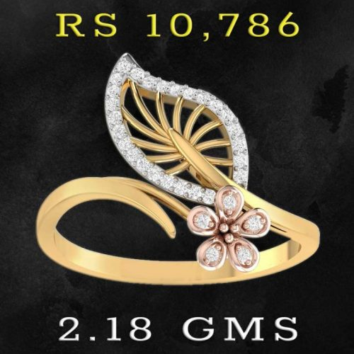 Diamond Ring for Women with 22KT Gold