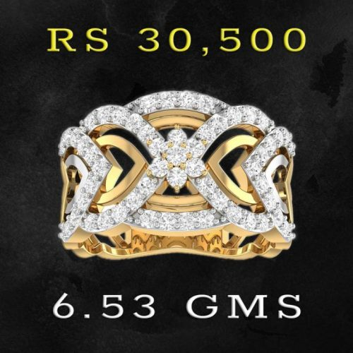 Fancy Gold Diamond Ring with Price and Weight