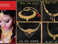 Light Weight Gold Necklace Designs in 10 Grams