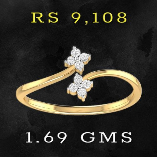 Lightweight Gold Diamond Ring with Price