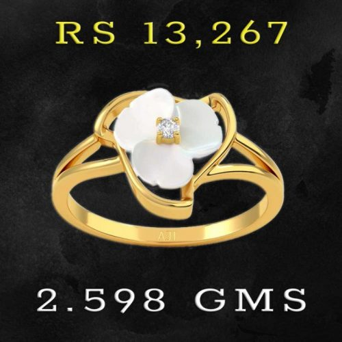 Lovely Flower Diamond Ring with Price