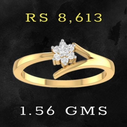 PC Jewellers Diamond Ring Designs with 22K Gold