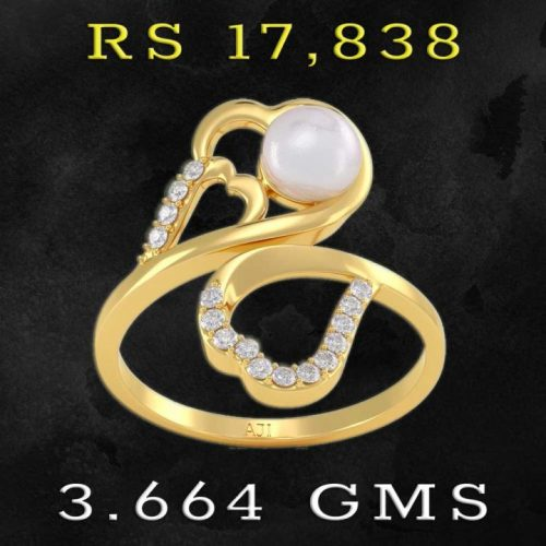 Pearl and Diamond Gold Rings with Price