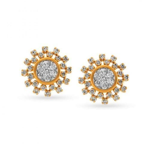 Tanishq Diamond Earrings with Weight