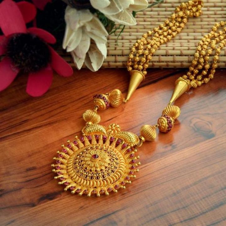 WHP Jewellers Gold Haram Designs in 40 Grams