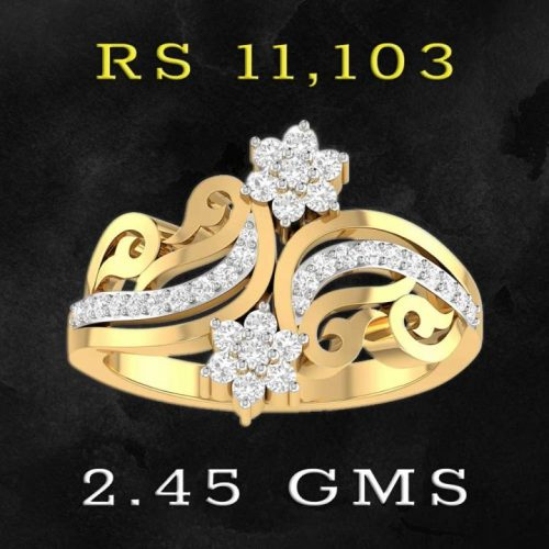 Womens Diamond Ring with Price from PC Jewellers