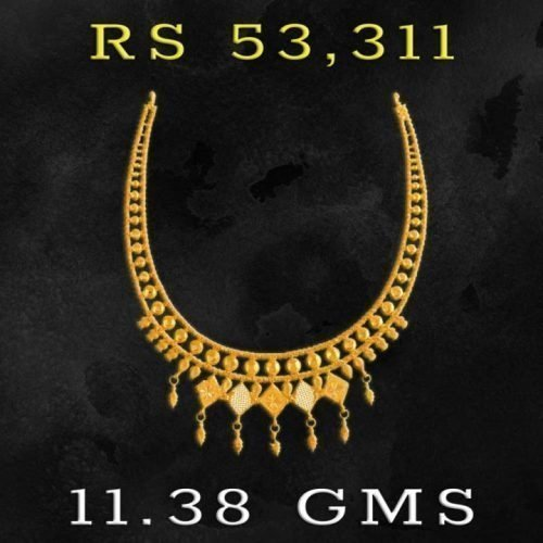 PC Chandra Gold Necklace Designs in 10 Grams
