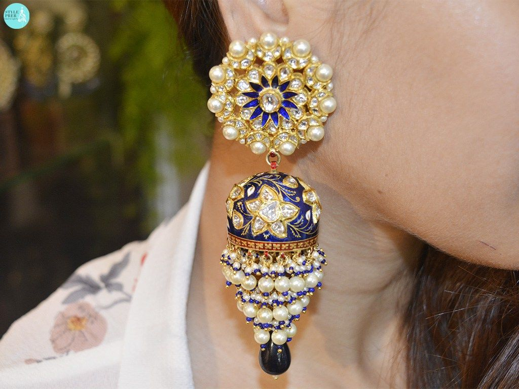 Polki Karanphool Jhumka Earrings