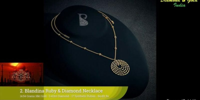 16 Gram Diamond & Gold Necklace Designs With Price & Weight (2018)