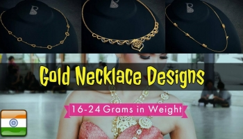 16 to 24 Gram Lightweight Gold Necklace Collection Designs For Ladies, Women and Girls