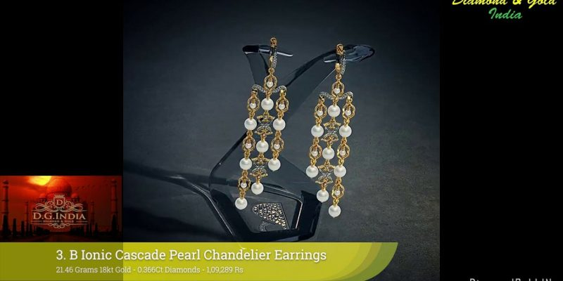 20 Gram Diamond Gold Earring Designs With Price & Weight