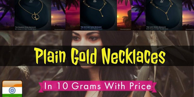 22K Plain Gold Necklace Designs in 10 Grams with Price