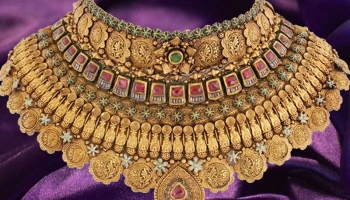 100-200 Gram Yellow Gold Necklace Designs by WHP Jewellers with Price