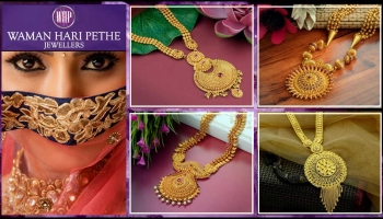 Latest Gold Haram Designs with Weight