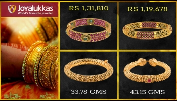 Joyalukkas Gold Bangle Designs with Price and Weight
