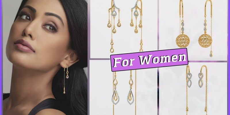 Diamond Sui Dhaga Earrings Designs With Price & Weight (2019)