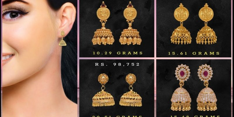 Gold Jhumka Earrings Designs With Price & Weight
