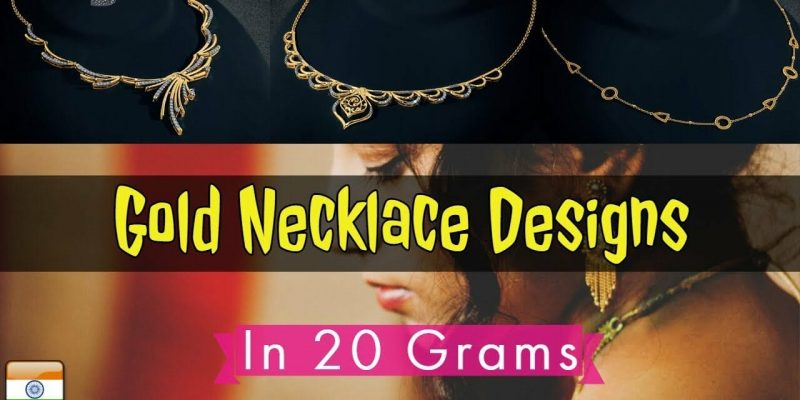 Gold Necklace Designs in 20 Grams For Women