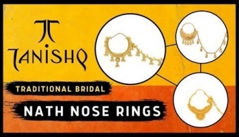 Tanishq Gold Nose Rings With Price | Bridal Nathiya (2019)
