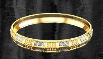 Mans Punjabi Stylish Kada in Gold (18k – 33.86 Grams)
