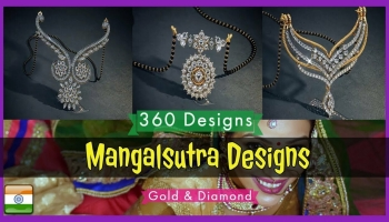 Latest Diamond Mangalsutra Necklace Designs With Price (2018)