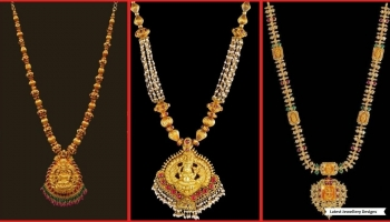 Latest Kalyan Jewellers Gold Necklace Collection | New Gold Necklace Designs