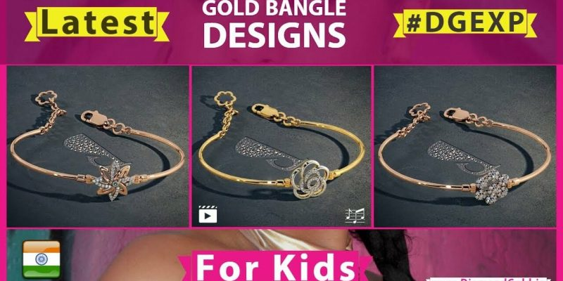 Latest Kids Gold Bangles & Bracelet Designs For Girls (2018 – With Price)