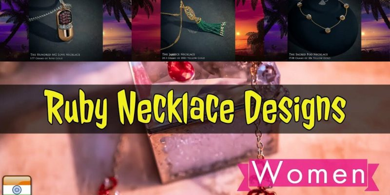 Latest Ruby Necklace Designs by BlueStone With Price (2018)