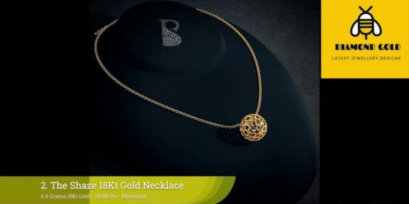 Latest Simple Plain Gold Necklace Designs With Price (2018)