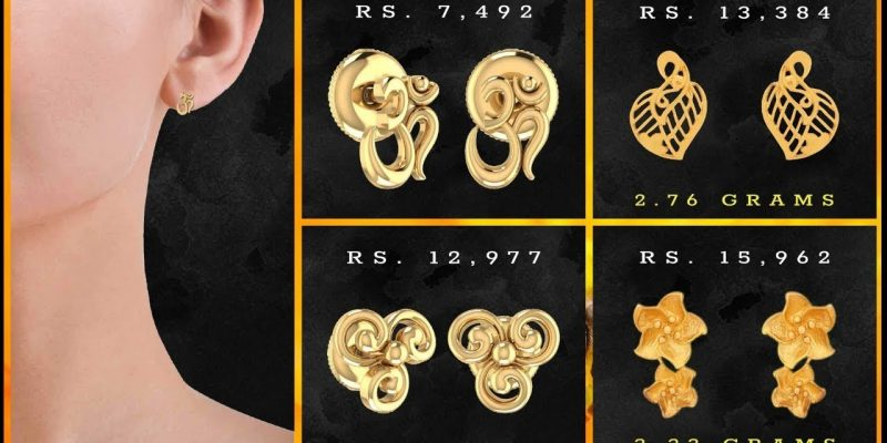 PC Jewellers Gold Earrings Designs for Women with Price