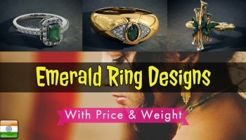 Pretty Womens Emerald Rings Designs With Price