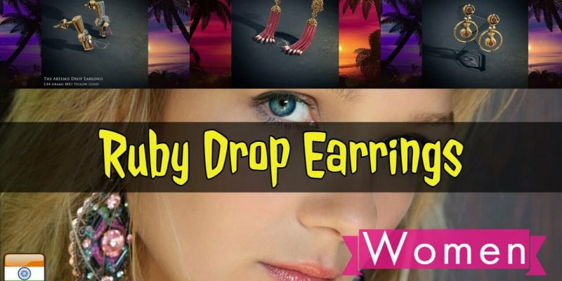 Ruby Drop Earring Designs With Price by BlueStone (EMI – Pay Monthly)