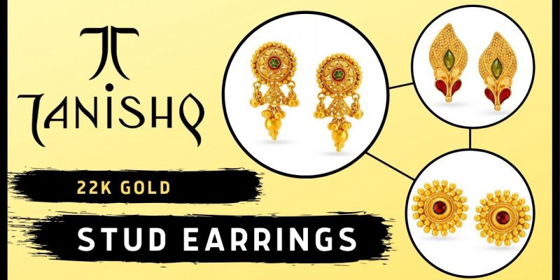Tanishq 22k Gold Stud Earrings With Price