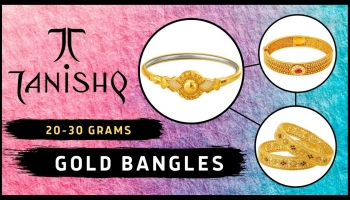 Tanishq Gold Bangles Designs In 20 Grams (With Price)