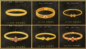Tanishq Gold Bangles Designs with Price and Weight (2019)